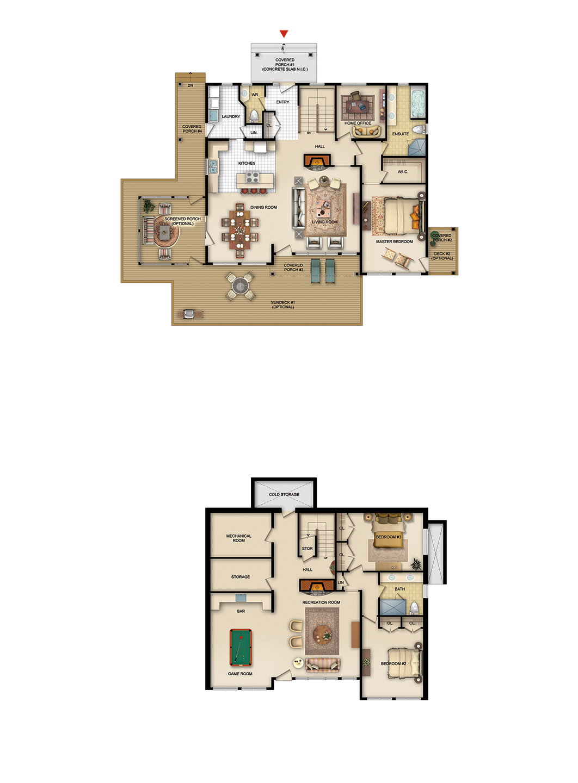 The Crandon floorplan