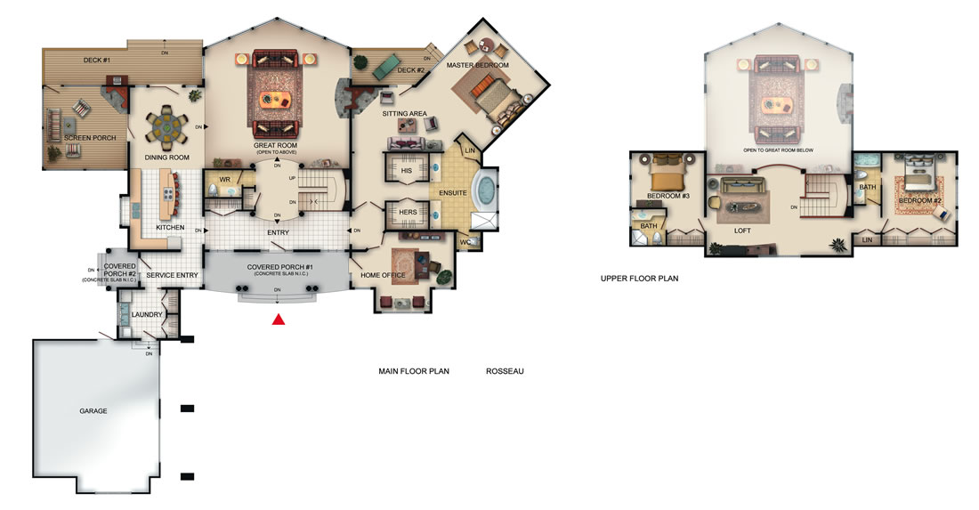 The Rosseau Floor Plan