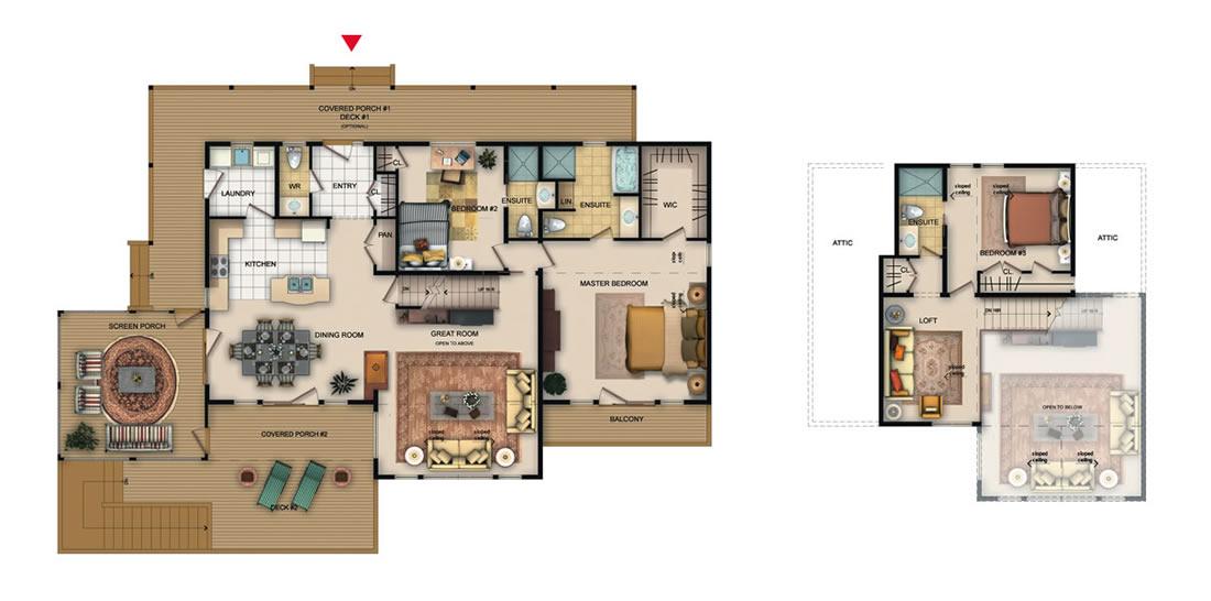 The Bennington floorplan